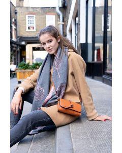 676 BROWN- Brown Knotted Tassel Cross Body Bag
