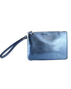 467 METALLIC BLUE - Metallic Blue Clutch