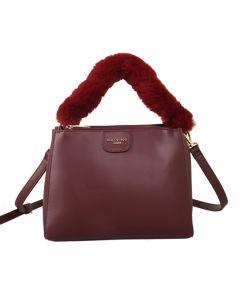 500 BURGUNDY - Burgundy Fluffy Handle Grab Bag