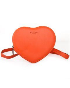 503 ORANGE - Bright Orange Heart Pouch