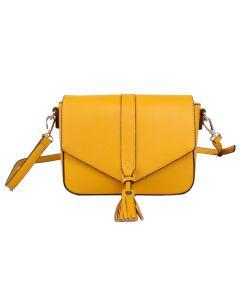 539 MUSTARD - Mustard Pastel Tassel Cross Body Bag