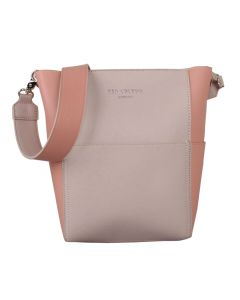 552 CREAM PINK - Cream/Pink Bucket Shoulder Bag