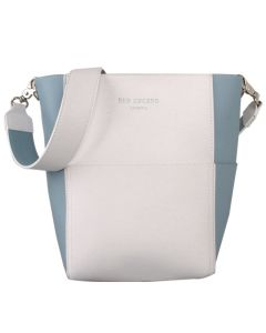 552 WHITE BLUE - White/Blue Bucket Shoulder Bag