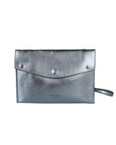 569 Metallic Blue - Met Blue Envelope Cross Body Bag