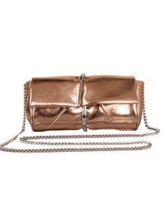 582 GOLD - Gold Clutch Bag