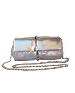 582 SILVER - Silver Clutch Bag