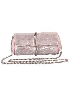 583 PINK - Pink Sequin Clutch Bag