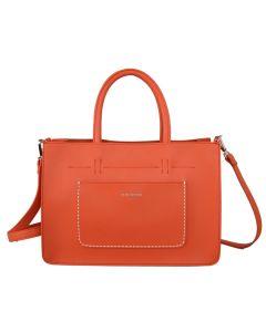 592 ORANGE - Orange Front Pocket Tote Bag