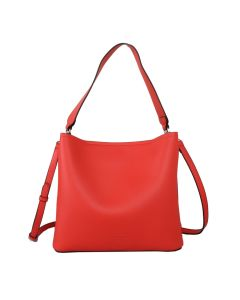 617 CORAL - Coral Shoulder Bag With Magnetic Closure
