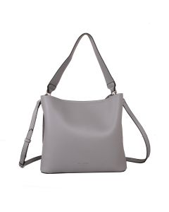 617 SILVER - Silver Shoulder Bag With Magnetic Closure