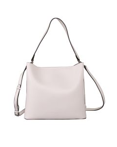 617 WHITE - White Shoulder Bag With Magnetic Closure