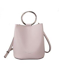 623 CREAM - Cream Bucket Bag with Hoop Handles