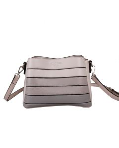 652 SILVER - Silver Cross Body Bag With Ombre Gradient