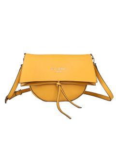 675 MUSTARD- Mustard Half Moon Fold Over Cross Body Bag