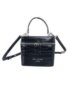 697 BLACK - Black Croc Effect Grab Bag