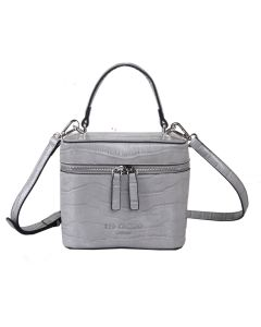 697 SILVER - Silver Croc Effect Box Grab Bag