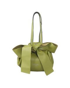 698 GREEN - Green Round Shoulder Bag with Bow Detail