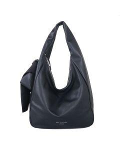 699 BLACK - Black Shoulder Bag with Bow Detail