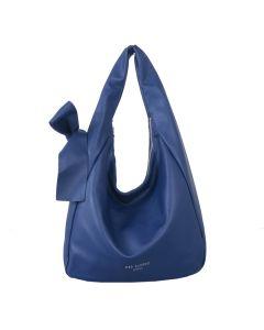 699 BLUE - Blue Shoulder Bag with Bow Detail