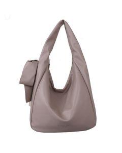 699 IVORY - Beige Shoulder Bag with Bow Detail