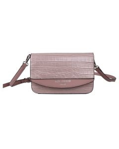 705 PINK - Pink Croc Effect Cross Body Bag