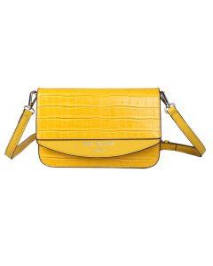 705 YELLOW - Yellow Croc Effect Cross Body Bag