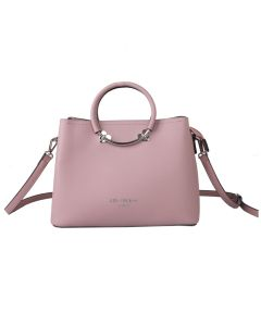 709 PINK - Pink Tote with Heart Detail