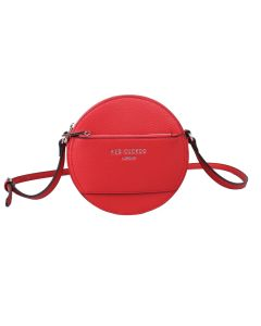 713 RED - Red Round Cross Body Bag