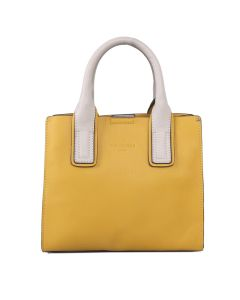722 YELLOW - Small Yellow Tote with Stand Out Straps