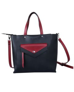 725 BLACK - Black Tote with Red Details