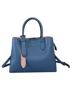 729 BLUE - Blue Tote with Silver Buckle