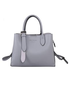 729 GREY - Grey Tote with Silver Buckle