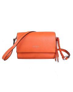 734 ORANGE - Orange Foldover Crossbody Bag