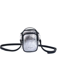 740 METALLIC - Metallic Double Pocket Cross Body Bag