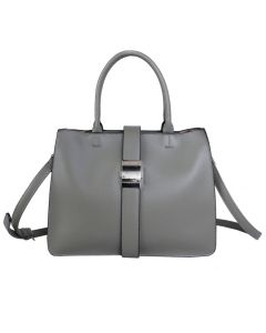 742 GREEN - Green Tote with Fastening Buckle