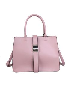 742 PINK - Pink Tote with Fastening Buckle