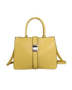742 YELLOW - Yellow Tote with Fastening Buckle
