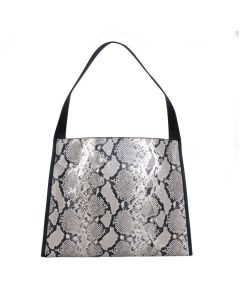 743 SNAKESKIN - Snakeskin Effect Shopper with Black Trim