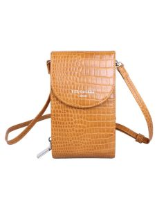 744 MUSTARD - Mustard Crocodile Effect Cross Body Pouch