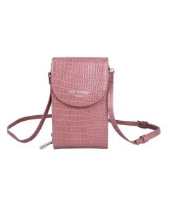 744 PINK - Pink Crocodile Effect Cross Body Pouch
