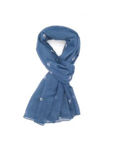 A004 NAVY - Bee Outlines Scarf Navy
