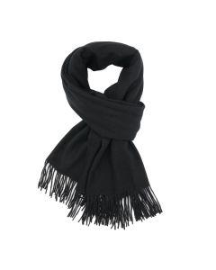 B003 BLACK - Thick Plain Scarf Black