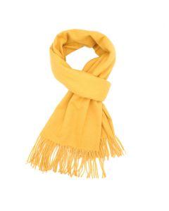 B003 YELLOW - Thick Plain Scarf Yellow