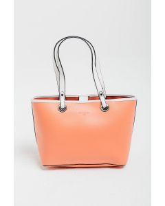 723 ORANGE- Orange Shoulder Bag with White Detail and Straps