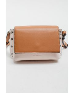 727 BEIGE - Beige and White Shoulder Bag