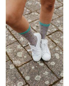 Honey Bees Socks Grey