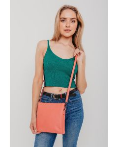 610 CORAL - Coral Tall Cross Body Bag