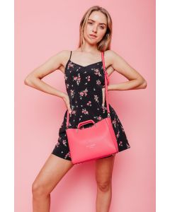626 HOT PINK - Hot Pink Rectangular Grab Bag