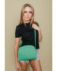 631 GREEN - Green Half Moon Cross Body Bag