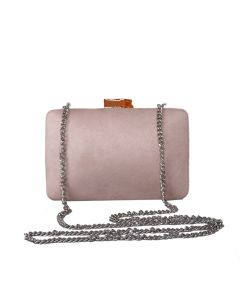 PP108 DUSKY PINK - Dusky Pink Structured Clutch